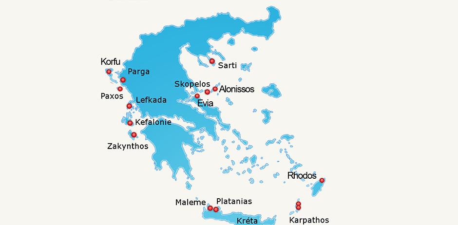 Melissa Travel - mapa