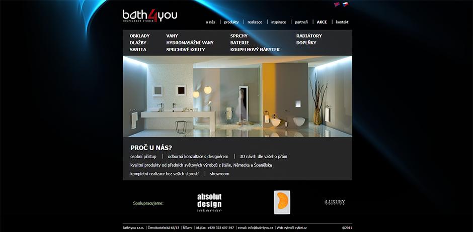Bath4You - úvodní stránka