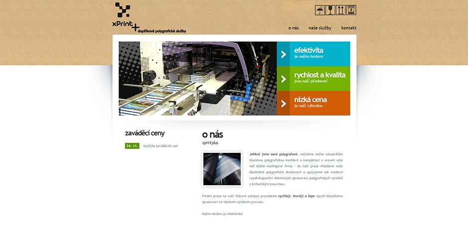xPrint Plus - úvodní stránka