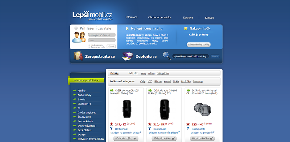 lepsimobil.cz - úvodní stránka
